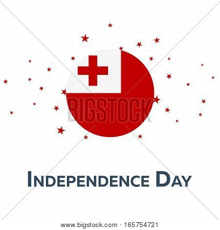 Independence Day Of Tonga. Patriotic Banner. Vector Illustration.