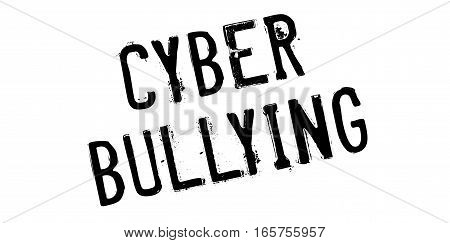 Cyber Bullying rubber stamp. Grunge design with dust scratches. Effects can be easily removed for a clean, crisp look. Color is easily changed.
