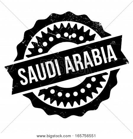Saudi Arabia stamp. Grunge design with dust scratches. Effects can be easily removed for a clean, crisp look. Color is easily changed.