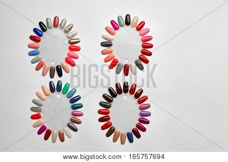 Fake nails on a white background. Isolated.