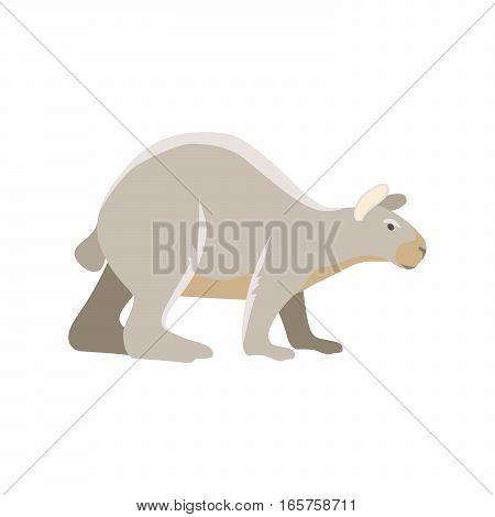 Vector prehistoric cartoon ancient mammal ice age extinct animal