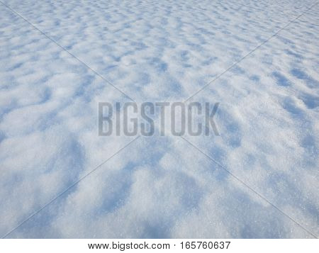 Abstract white fresh snow texture detail background