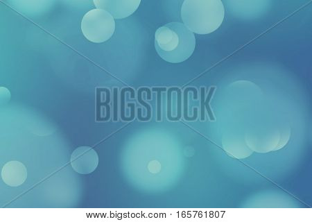 Abstract Blue Glow Glittering Particles Bokeh Sparkle Effect, Event Festive Holiday Happy New Year