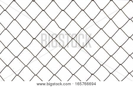 Chain Fence on a white background. Chain Fence closeup