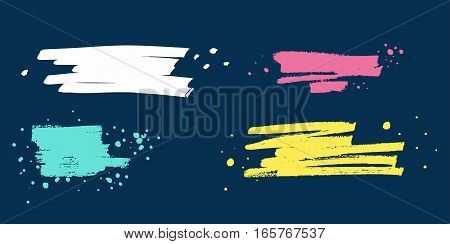 Set of hand drawn colorful elements trace markers. Vector illustrations for graphic and web design. Paint Blotch for your design