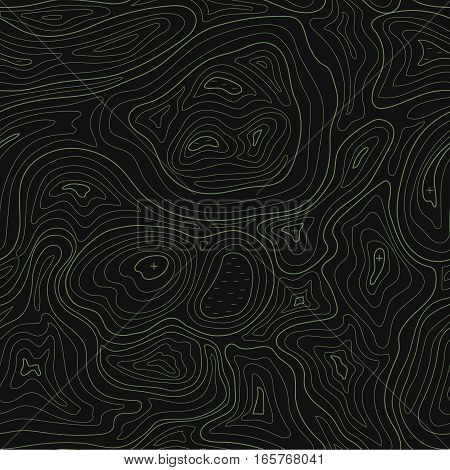 Abstract earth relief map seamless pattern Vector topographic background