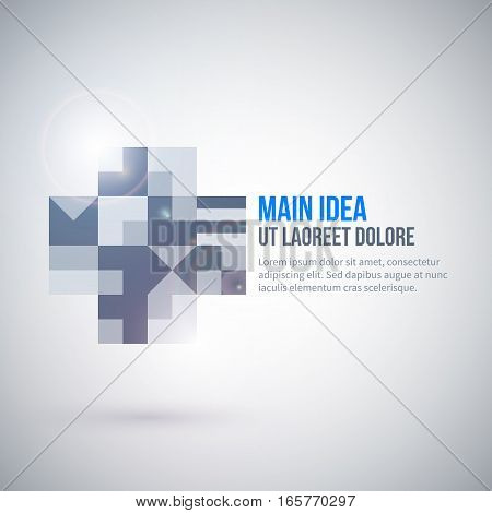 Web Template With Abstract Geometric Element. Useful For Presentations And Advertising.