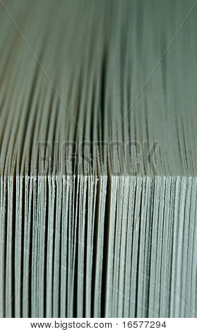 Extreme close-up of a paperback novel