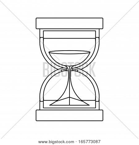 black silhouette with sand clock vector illustration