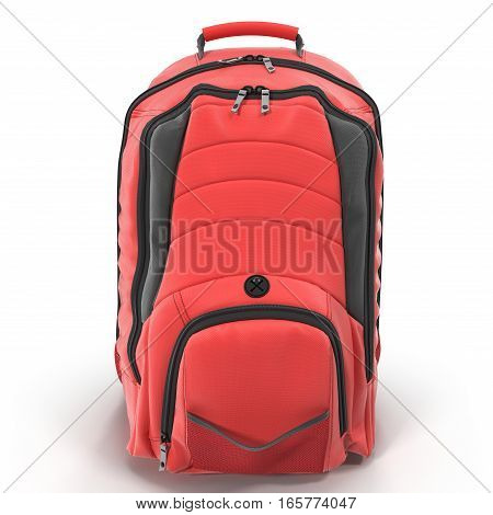 Backpack isolated on white background. 3D illustration
