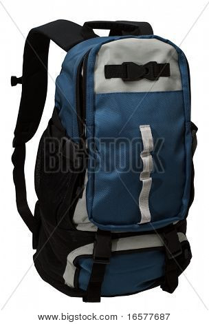 Backpack isolated on white with clipping path