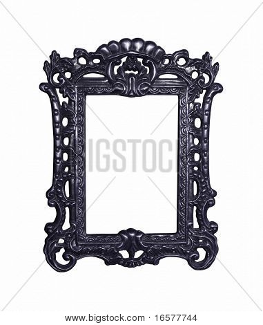 Vintage highly decorated frame isolated. Image contains a clipping path for easy masking.