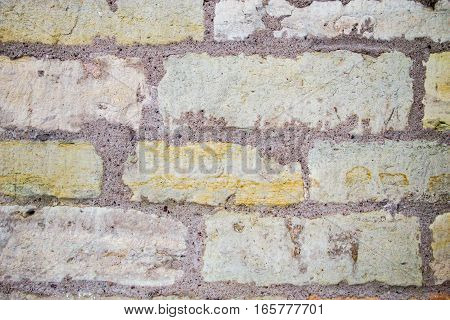 old vintage white yellow stone wall background