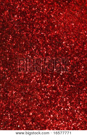 Red glitter background poster