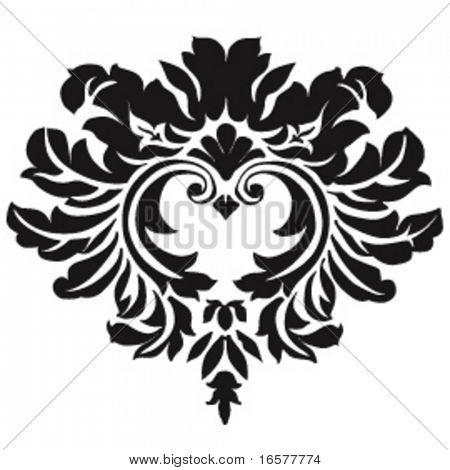 Handdrawn vector ornament with smooth curves (Not a jagged trace). This file can be scaled and colored at will.