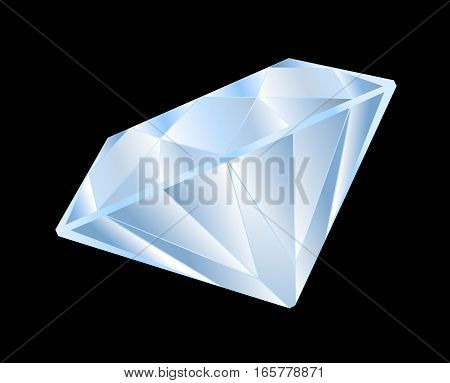Diamond brilliant game isolated on black background