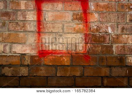 Brickwork, brick, rough brick wall, brickwall, brick house, wet brick wall, red square