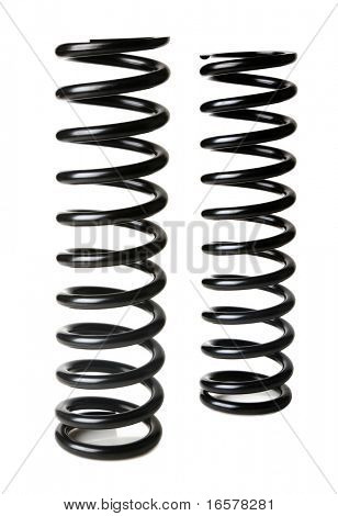 Real springs isolated on white background - not a 3D render