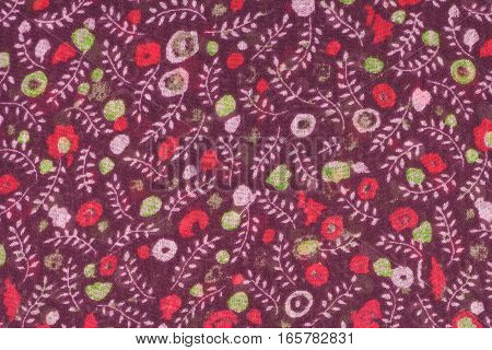 Funny color cloth as background, vertical view