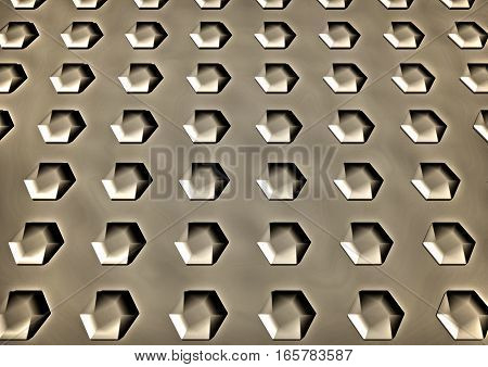 Abstract shape pattern plastic background. 3D rendering.