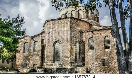 Istanbul, Turkey - June 23, 2015: The Hagia Irene Orthodox Church. These landmarks are preserved Byzantine Temples in Istanbul, Turkey.