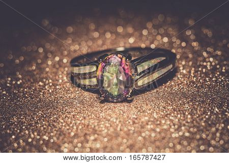 Rainbow Topaz Ring Filtered