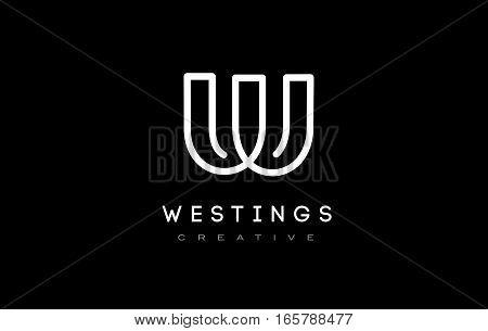 W Logo. W Letter Design Vector Illustration Modern Monogram Icon.