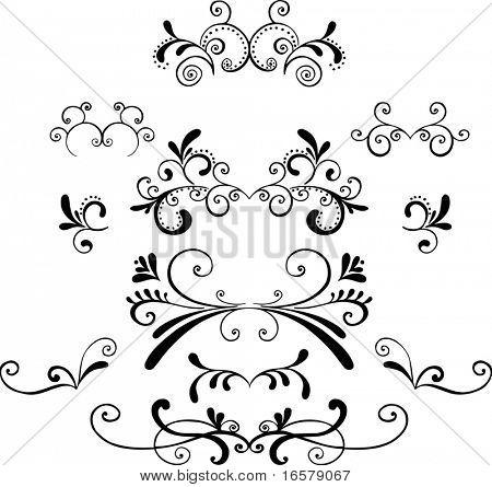 Ornaments 2 Vector Illustration