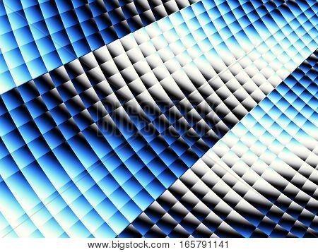 Background pattern with a waves. Abstract blue fractal image.