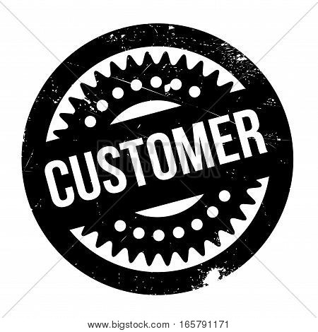 Customer rubber stamp. Grunge design with dust scratches. Effects can be easily removed for a clean, crisp look. Color is easily changed.