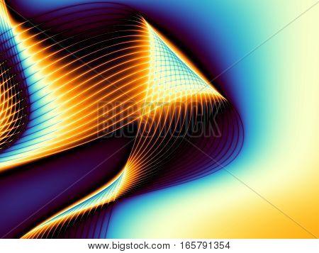 Digital art abstract pattern. Unusual wavy fractal image