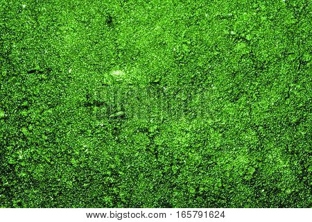 Texture of the soil, soil texture, nature background, green soil, green abstraction, grunge nature background, bright green, ground