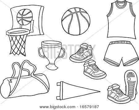 Basketball Sports Vector Illustration