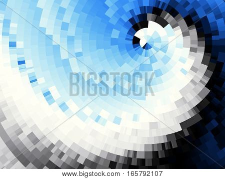 Geometrical abstract pattern. Blue spiral geometrical image