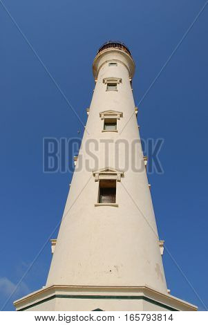 Looking up at the lighthouse in Aruba.