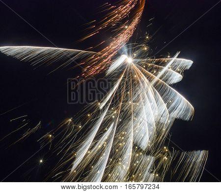Firework Display, Firework - Explosive Material, Night, Winter, Fire