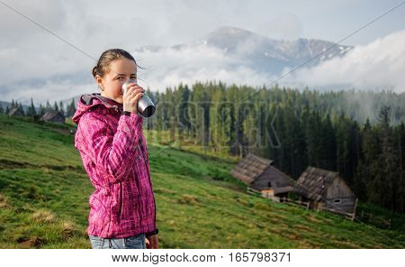 Young Girl In The Carpathian Mountains