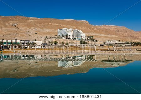 The Hotels At Dead Sea Beach. Israel