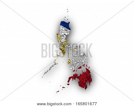 Map And Flag Of The Philippines On Poppy Seeds