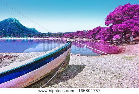infrared photography of Heraion lake - Vouliagmeni Loutraki Greece