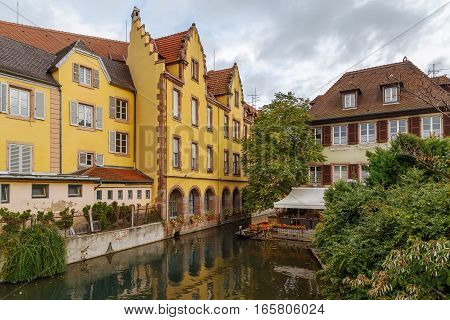 Area little Venice (la Petite Venise) in Colmar Alsace France