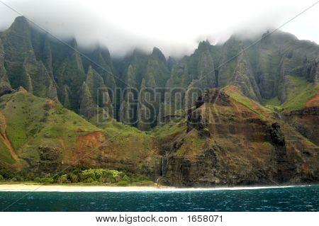 Cloudy Na Pali Coastline