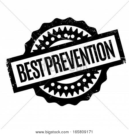 Best Prevention rubber stamp. Grunge design with dust scratches. Effects can be easily removed for a clean, crisp look. Color is easily changed.