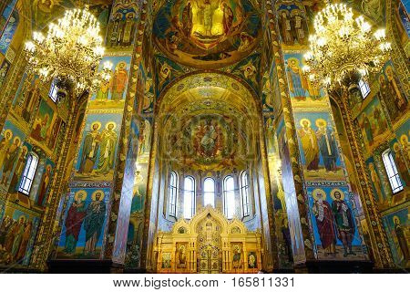 Church Of The Savior On Spilled Blood In Russia