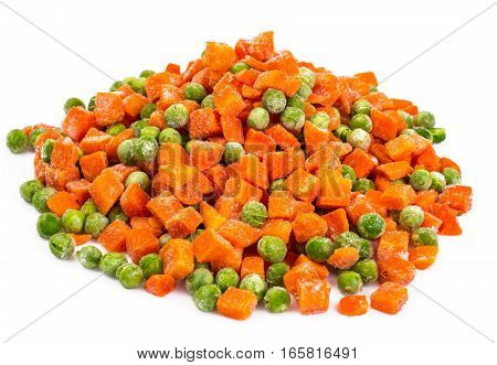 Preservation of vitamins in the frozen vegetables. Studio Photo