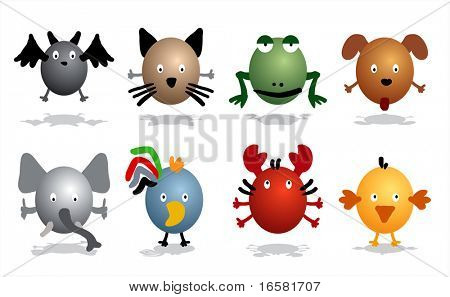 Cartoon characters - animals
