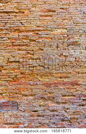 Red Brick Wall Texture Grunge Background, Red Brick Wall Background, Grungy Rusty Blocks Of Stone-wo