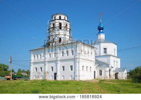 Kornilyevskaya (Smolenskaya) church in the sunny July afternoon. Pereslavl-Zalessky, Golden Ring of Russia