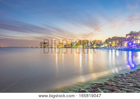 Sunset In Eilat, Israel Red Sea Resort City