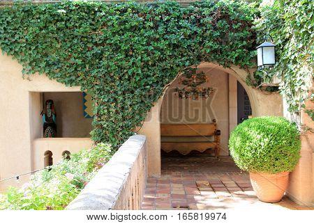 The yard in the small Italian town